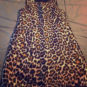 Jcrew size 6 leopard jumper dress